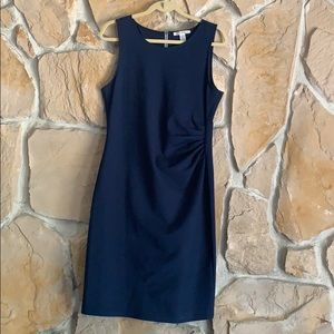 Kenneth Cole Navy exposed zipper Dress